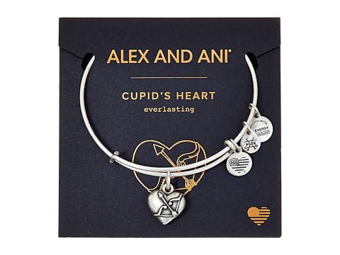 Alex and Ani Path Of Symbols - Cupid s Heart II Charm Bangle - Rafaelian Silver Finish