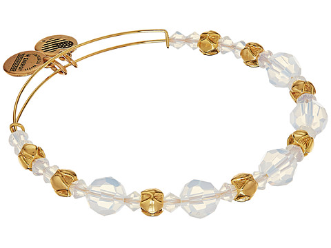 Alex and Ani Cloud Beaded Bangle with Swarovski Crystals - Shiny Gold Finish