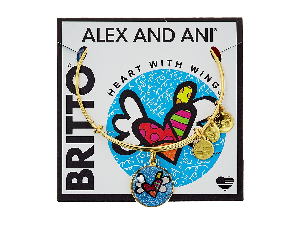 Alex and Ani - Heart With Wings Art Infusion Charm Bangle - Romero Britto