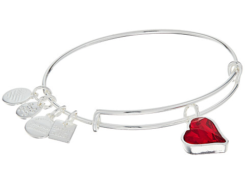 Alex and Ani Charity By Design Heart Of Strength Bangle - (Product)Red - Shiny Silver Finish