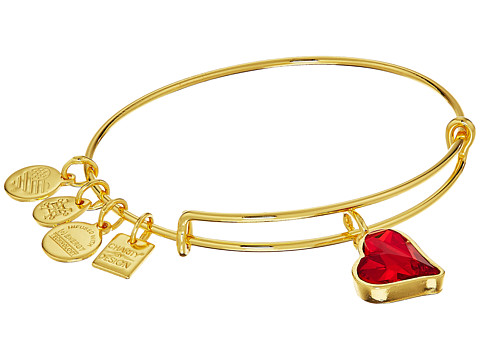 Alex and Ani Charity By Design Heart Of Strength Bangle - (Product)Red - Shiny Gold Finish