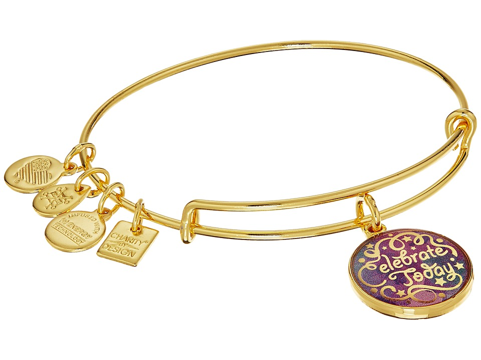 Alex and Ani - Charity By Design Celebrate Today - American Cancer Society Bracelet (Shiny Gold Finish) Bracelet