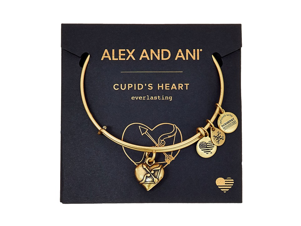 Alex and Ani - Path Of Symbols - Cupids Heart II Charm Bangle (Shiny Rose Gold Finish) Bracelet