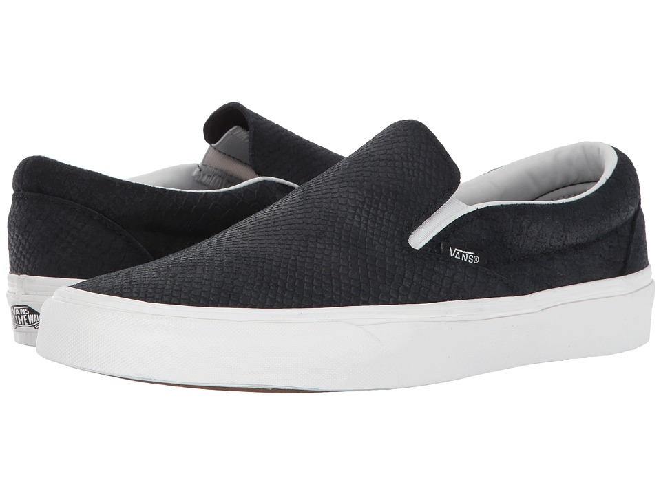 Vans Classic Slip-Ontm ((Snake) Black/Blanc) Skate Shoes