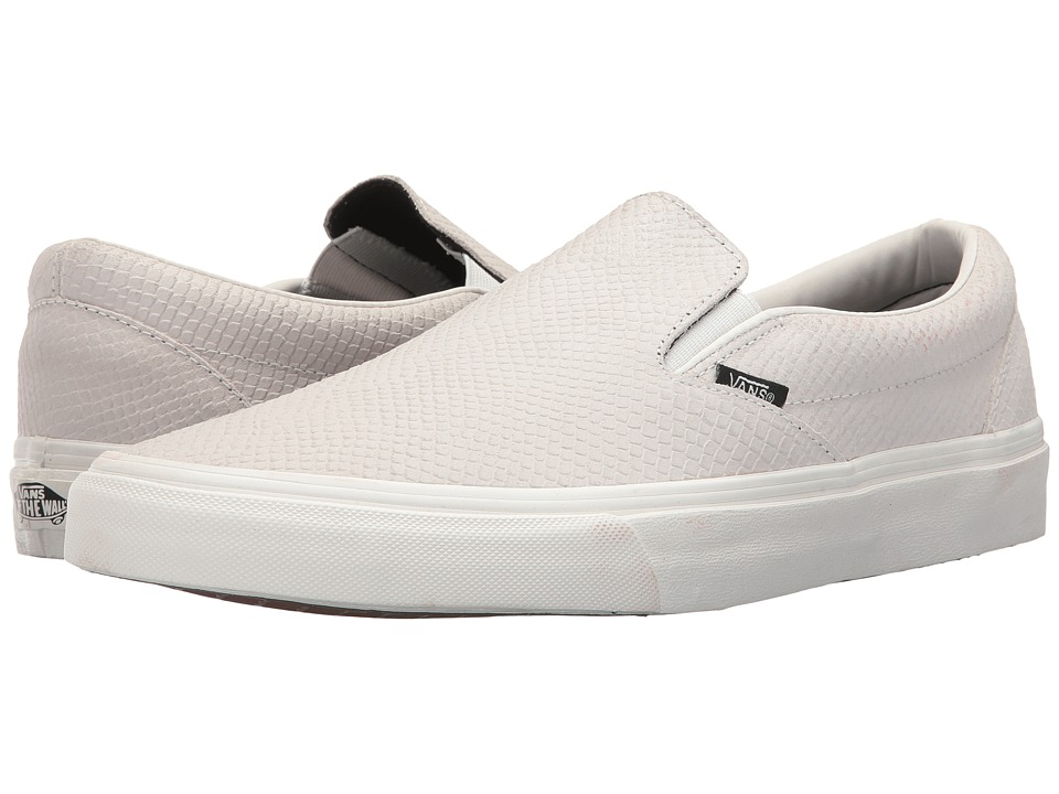 Vans Classic Slip-On ((Snake) Blanc de Blanc) Skate Shoes