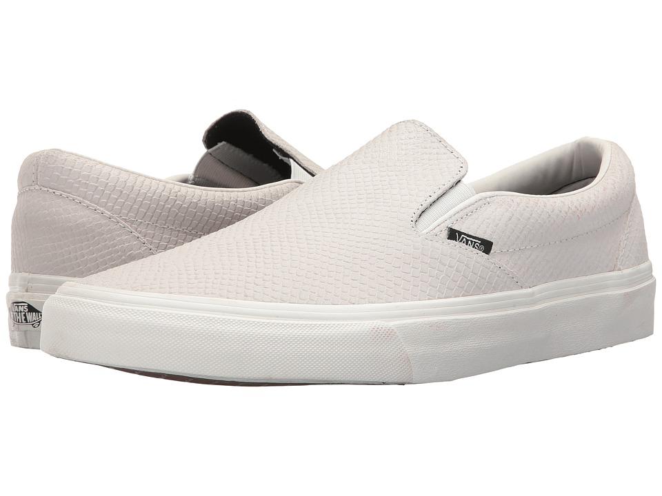 Vans Classic Slip-Ontm ((Snake) Blanc de Blanc) Skate Shoes