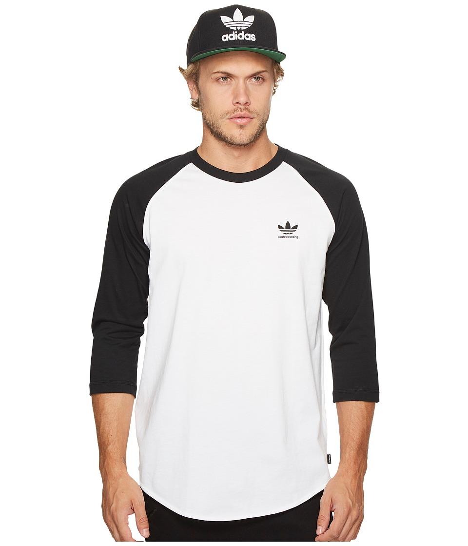 adidas Skateboarding Clima Pointoh Tee (White/Black) Men
