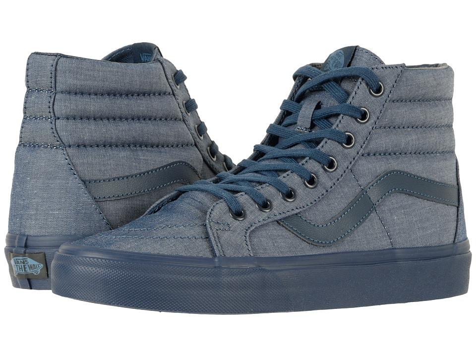 Vans SK8-Hi Reissue ((Mono Chambray) Navy/Navy) Skate Shoes