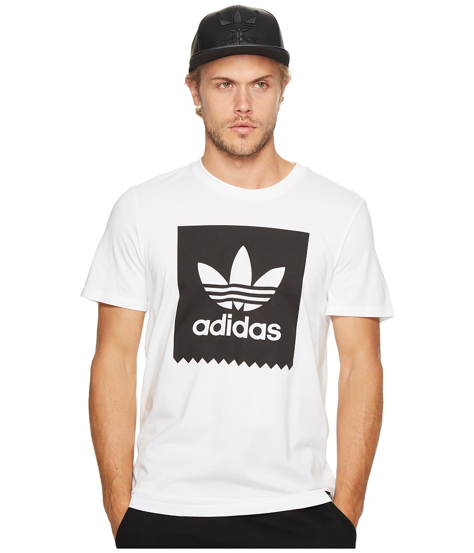 adidas Skateboarding Solid Blackbird Tee (White) Men