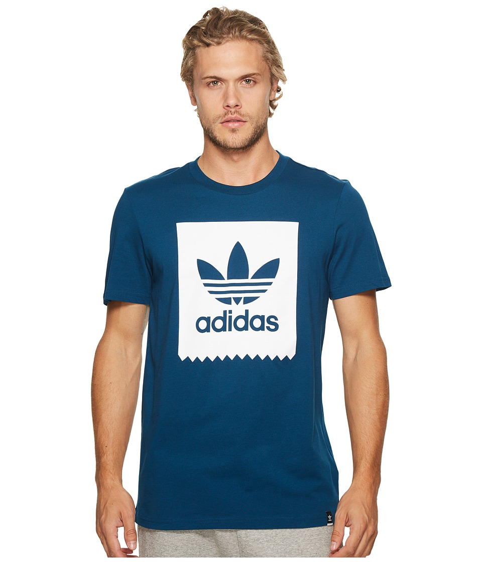 adidas Skateboarding Solid Blackbird Tee (Blue Night) Men