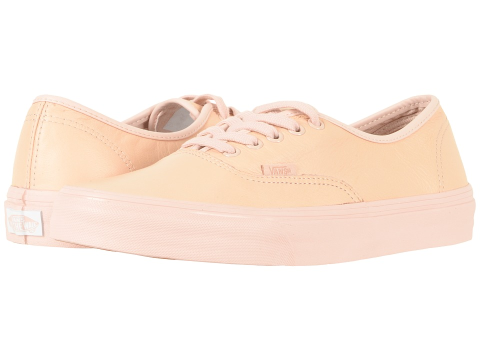 Vans Authentictm ((Leather) Mono/Sepia Rose) Skate Shoes