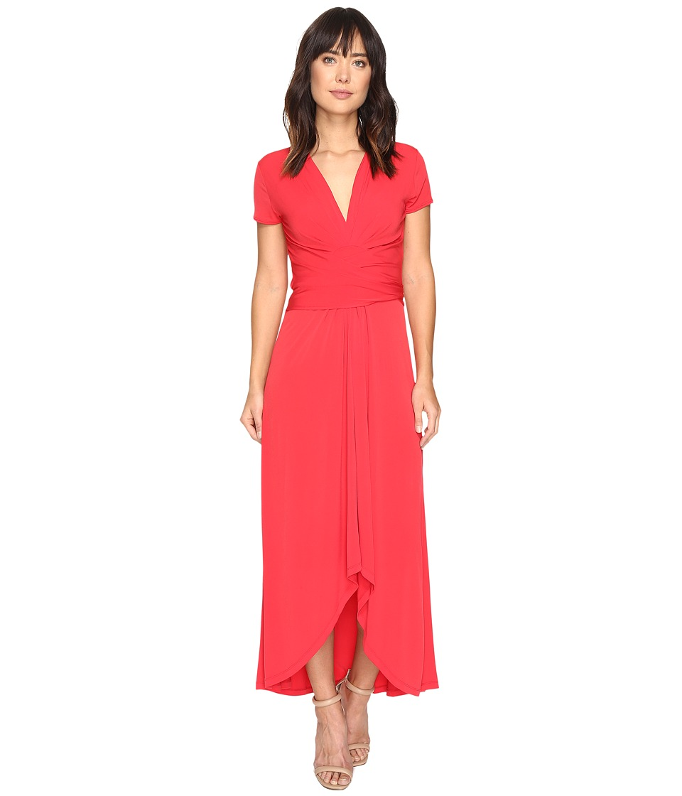 MICHAEL Michael Kors Short Sleeve Maxi Wrap Dress (True Red) Women