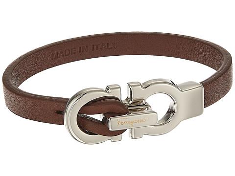 Salvatore Ferragamo Doppio Gancio Leather Bracelet