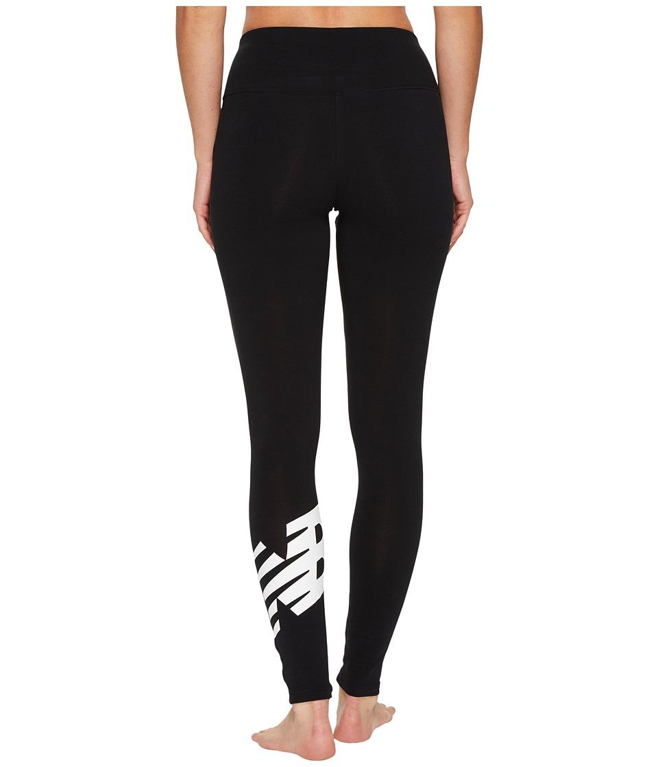 New Balance NB Athletics Leggings (Black/White) Women