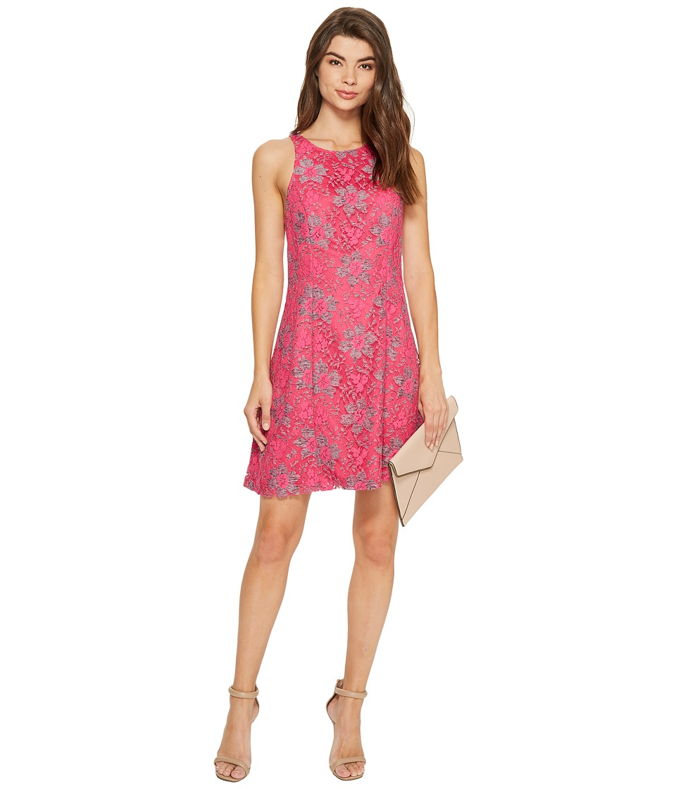 kensie Blossom Lace Dress KS7K9593 (Party Pink Combo) Women