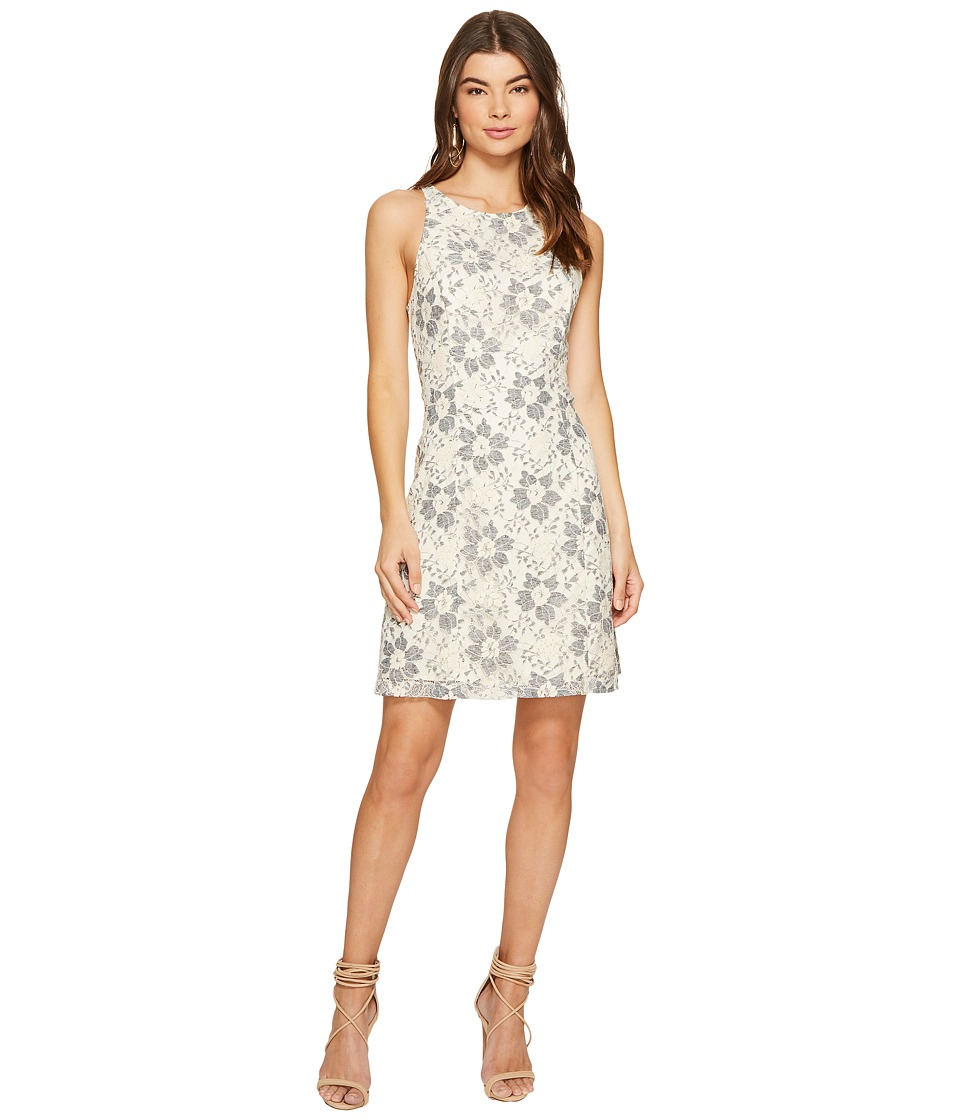 kensie Blossom Lace Dress KS7K9593 (French Vanilla Combo) Women