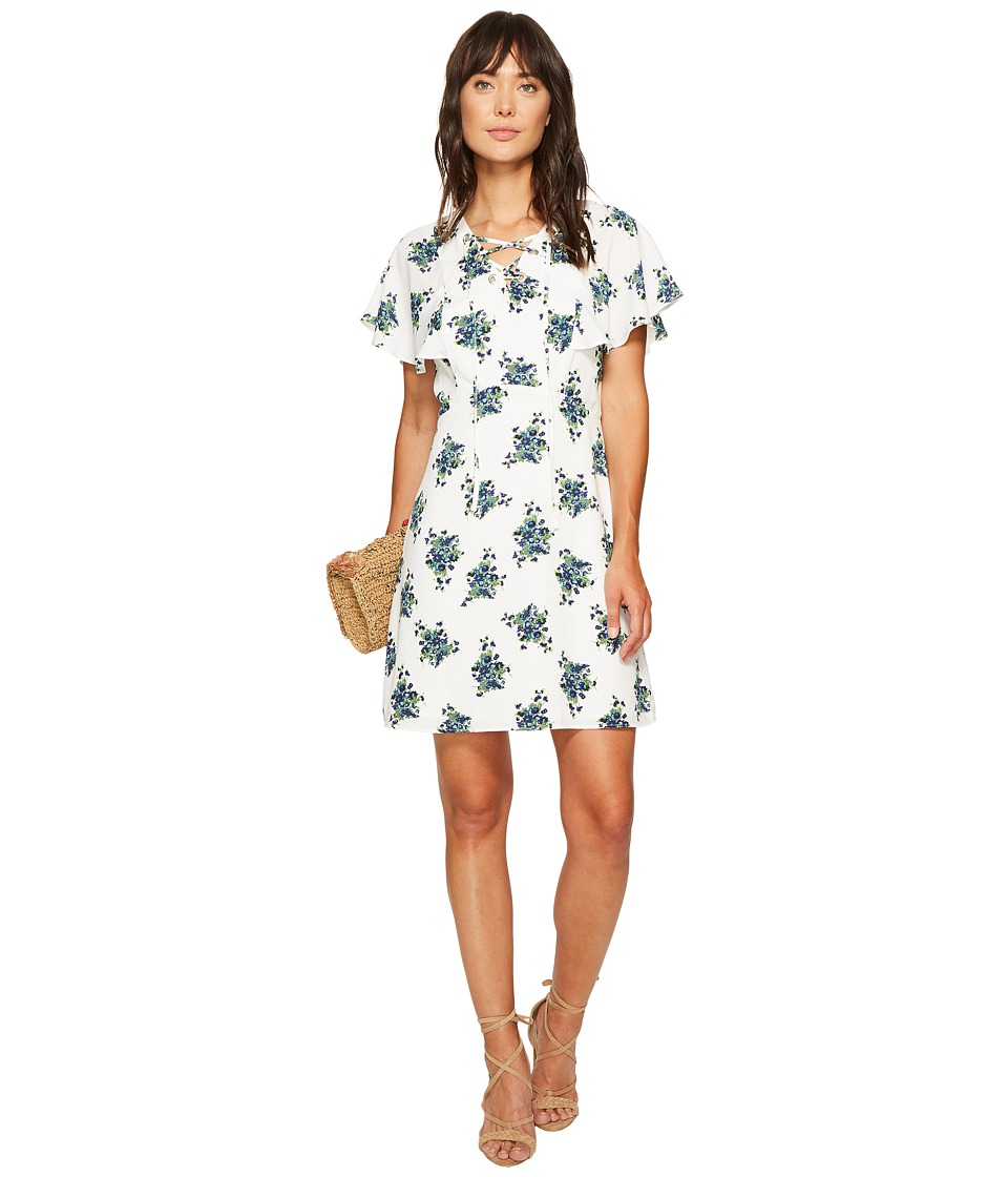 kensie Mini Bouquet Dress KS6K7998 (French Vanilla Combo) Women