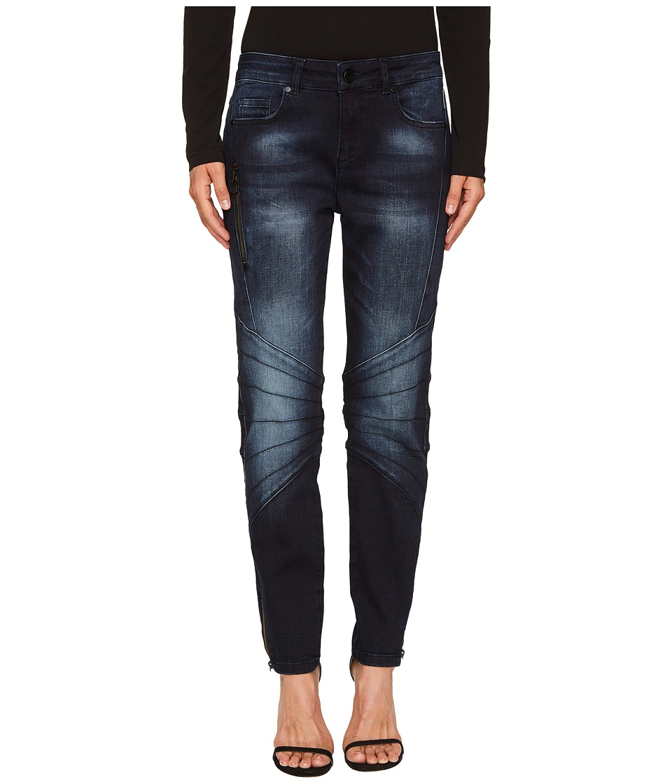 Versace Jeans - Skinny Moto Denim (Blue Black) Womens Jeans