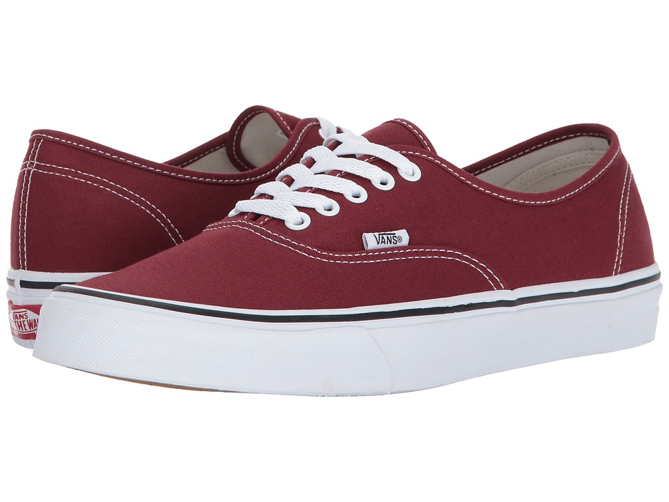 Vans Authentictm (Madder Brown/True White) Skate Shoes