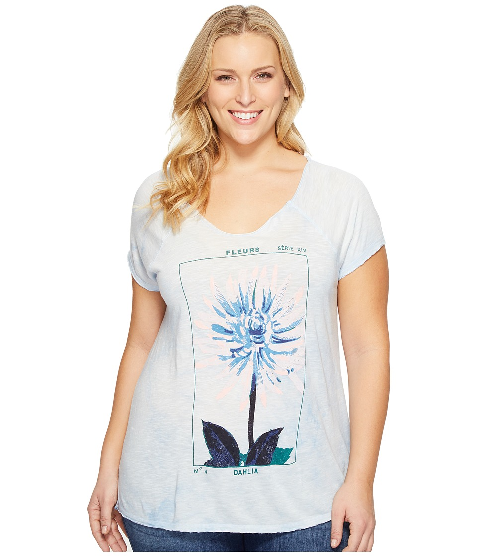 Lucky Brand Plus Size Dahlia Tee (Skyway) Women