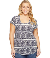 Lucky Brand - Plus Size Geo Striped Tee