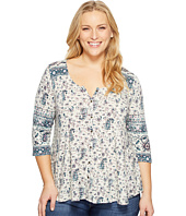 Lucky Brand - Plus Size Paisley Swing Top