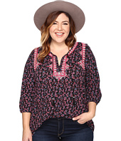 Lucky Brand - Plus Size Embroidered Boho Top