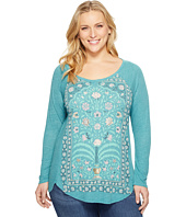 Lucky Brand - Plus Size Flower Frame Top