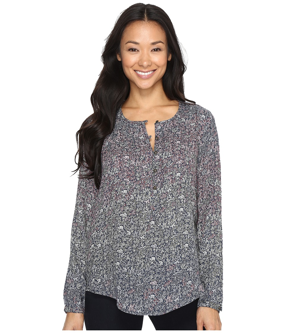Lucky Brand Floral Peasant Top (Multi) Women