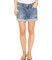 Jag Jeans - Alex Boyfriend Laser Printed Mission Denim Shorts in Cliff Wash