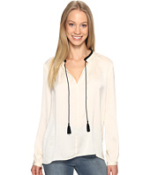 Lucky Brand - Contrast Peasant Top