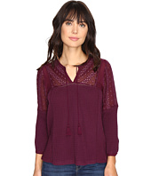 Lucky Brand - Eyelet Peasant Top
