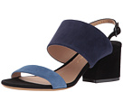 Salvatore Ferragamo Leather Double Band Mid-Heel Sandal