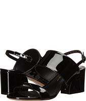 Salvatore Ferragamo - Leather Double Band Mid-Heel Sandal