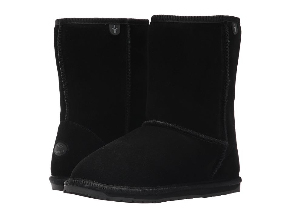EMU Australia Kids Wallaby Lo Teens (Big Kid) (Black) Kids Shoes