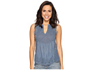 Lucky Brand - Washed Woven Mix Tank Top
