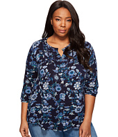 Lucky Brand - Plus Size Floral Vines Top