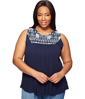Lucky Brand - Plus Size Embroidered Yoke Tank Top