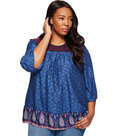 Lucky Brand - Plus Size Purple Peasant Top