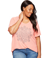 Lucky Brand - Plus Size Studded Lotus Tee