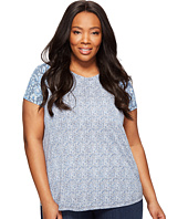 Lucky Brand - Plus Size Floral Mixed Tee