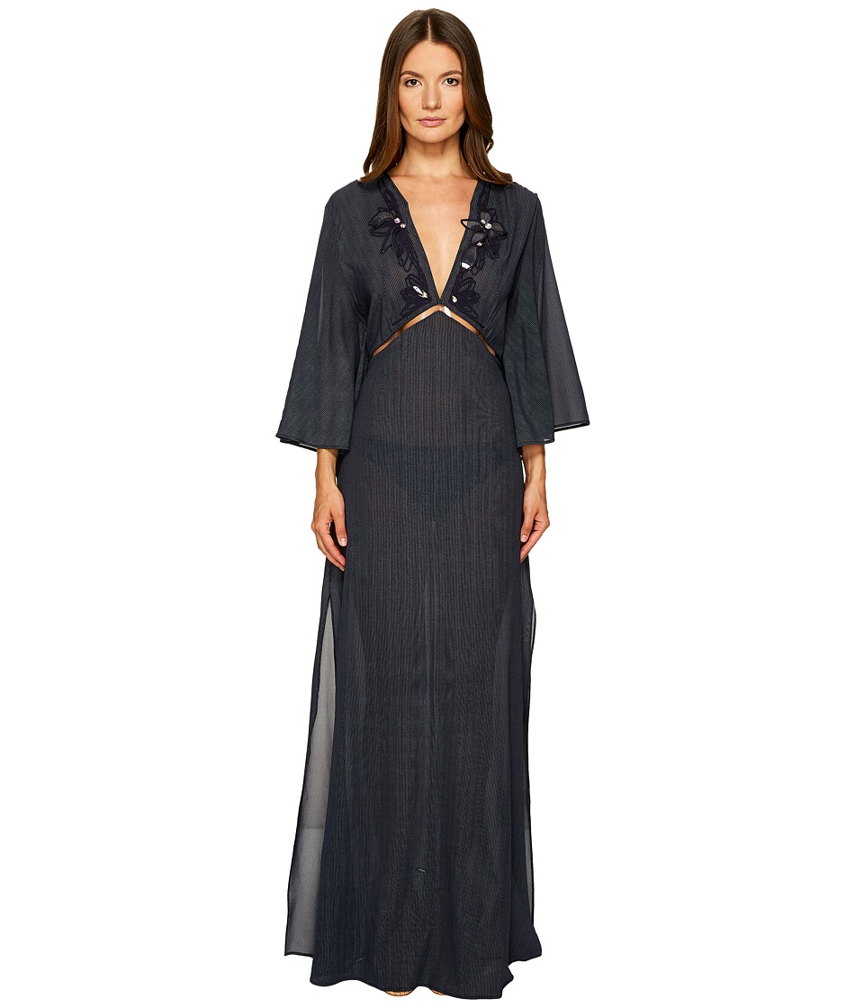 La Perla Avant Garden Long Dress (Gessato Navy)