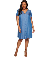 Lucky Brand - Plus Size Lace-Up Swing Dress