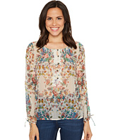Lucky Brand - Sheer Floral Peasant Top