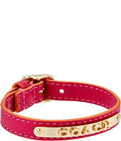 COACH - Leather Buckle Coach Plaque Bracelet
