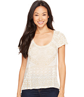 Lucky Brand - Metallic Geo Top