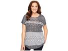 Lucky Brand - Plus Size Ditzy Floral Stripe Tee
