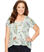 Lucky Brand - Plus Size Crazy Parrot Tee