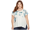 Lucky Brand - Plus Size All Flower Tee