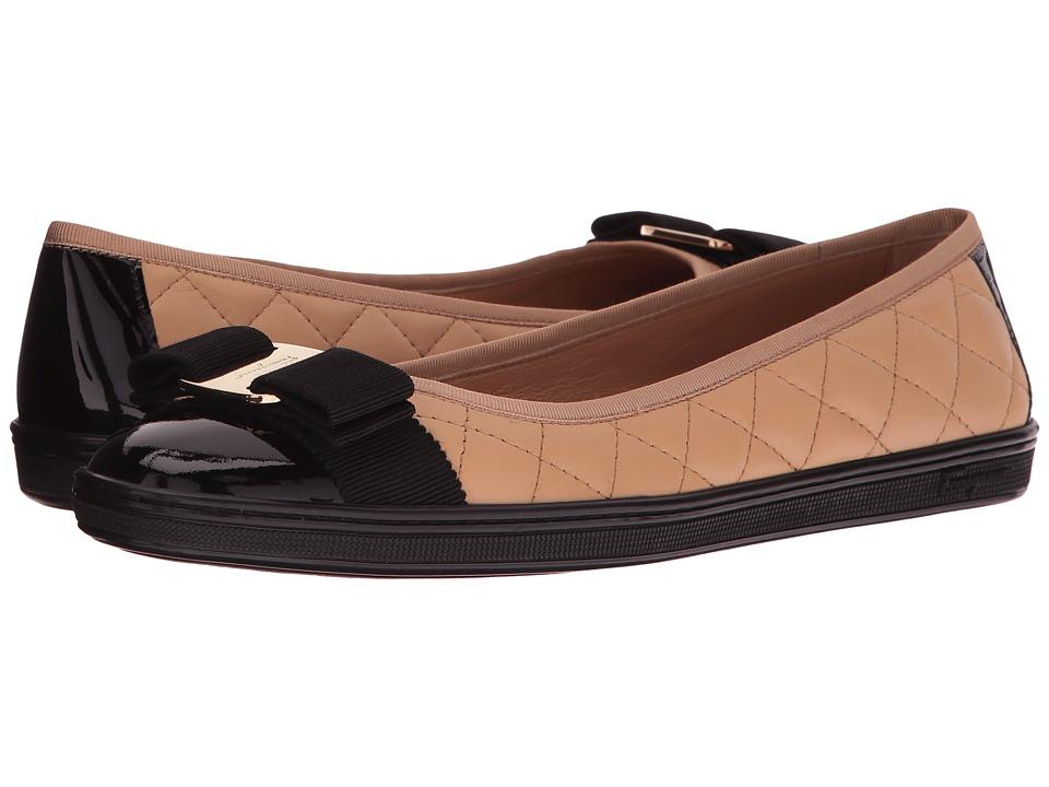 Salvatore Ferragamo Nappa Leather/Tweed Sneaker (Alpaca New Nappa VI) Women
